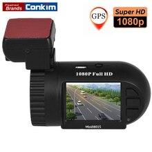 Holder conkim Cámara Tablero 1080 P HD Coche Lleno DVR Grabador Digital Car Condensador Super Mini 0801 S Con GPS + G-sensor + La Visión Nocturna Dvr