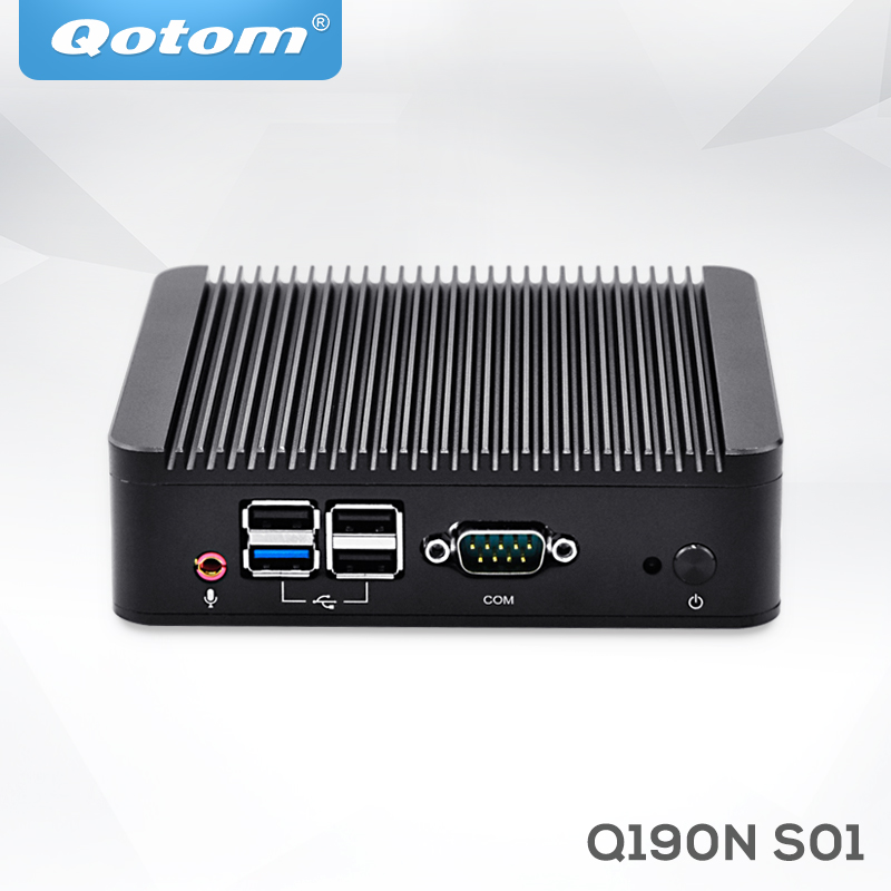 OEM Industrial Barebone Mini Desktop PC Bay Trail J1900 Fanless Mini PC Server Linux Ubuntu Quad Core X86 Mini Computer