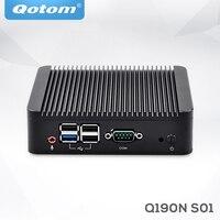OEM Industrial Barebone Mini Desktop PC Bay trail J1900 Fanless Mini PC Server linux Ubuntu quad core x86 Mini Computer