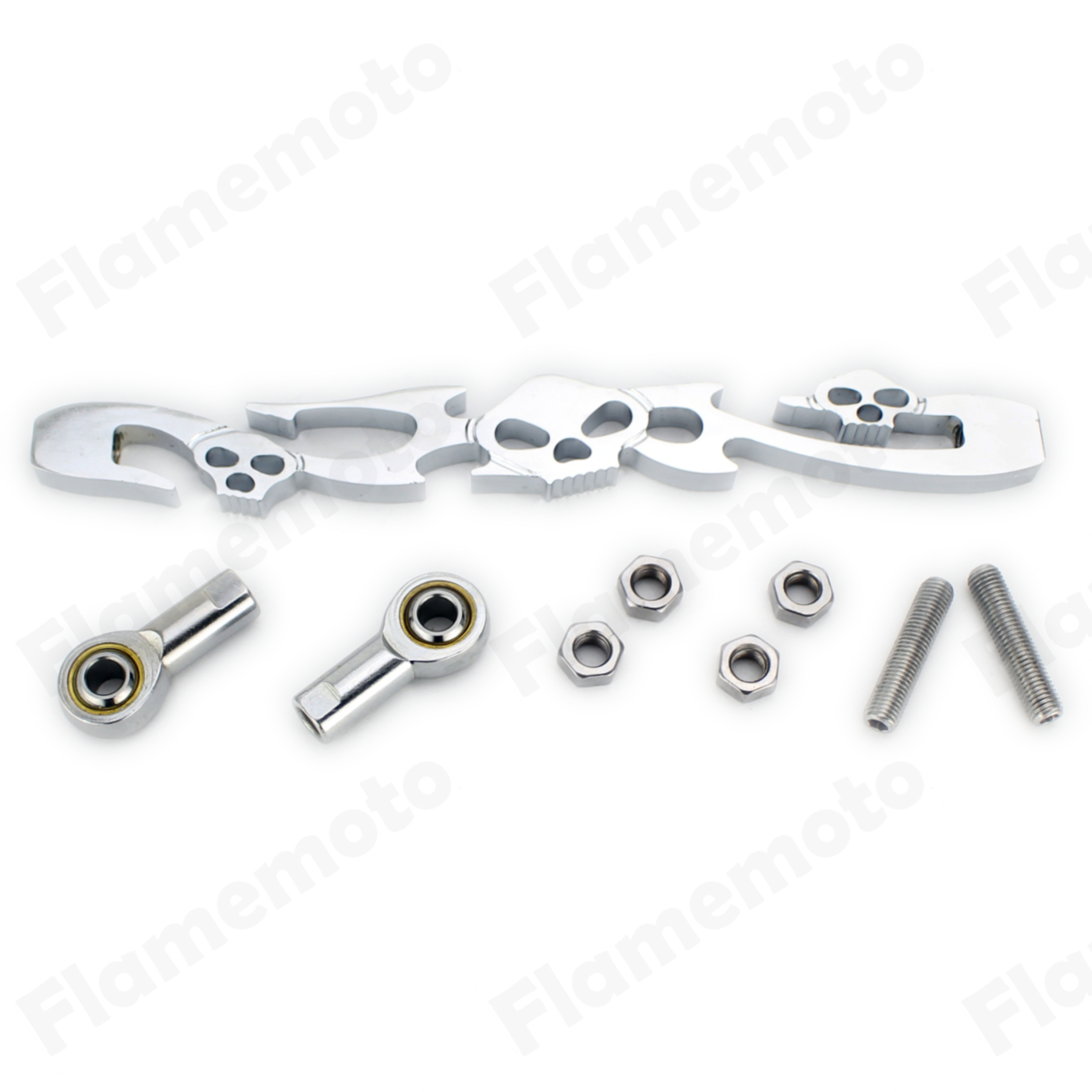 New Skull Chrome Gear Motorcycle Shift Linkage For Harley Softail Electra Glide Tour Glide Road King FXDWG CVO FLS
