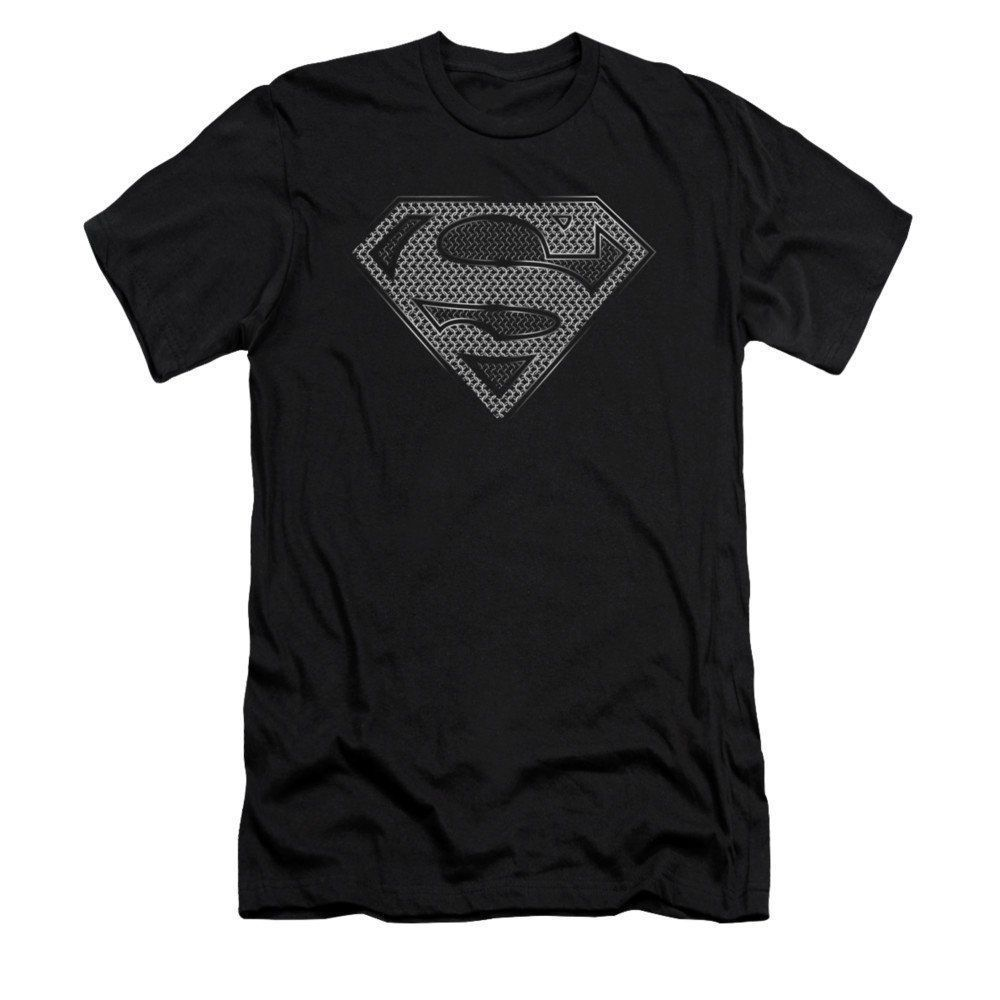 Superman Chainmail Adult Slim Fit T-Shirt