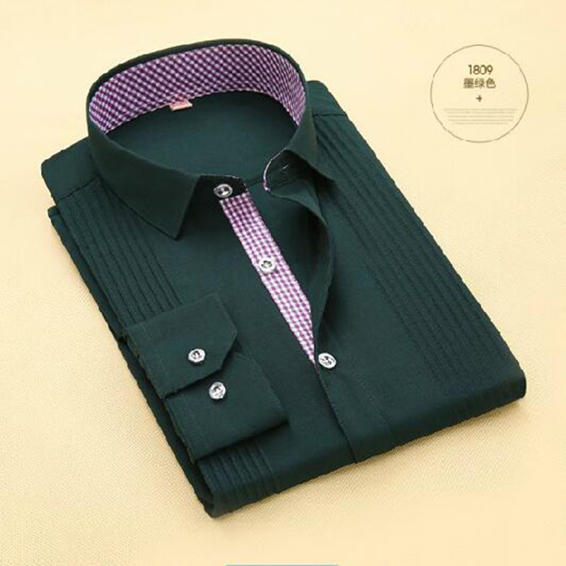 Men Tuxedo Shirts Long Sleeve Bow Tie Deign Cloth,Turn-down Collar Single Breasted Candy Solid Color High-grade Dress Shirts
