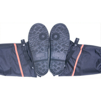 Mens Womens Anti Slip Waterproof Shoe Covers Rain Boots Protector Overshoes Flat Fishing Boots PVC Men