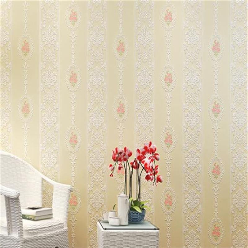 beibehang papel de parede  European style pastoral non-woven wallpaper living room 3D stereo wallpaper warm bedroom wall