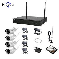 Hiseeu 960P 4CH Wireless CCTV Camera Powerful Wireless NVR 1TB HDD IP Camera IR CUT CCTV