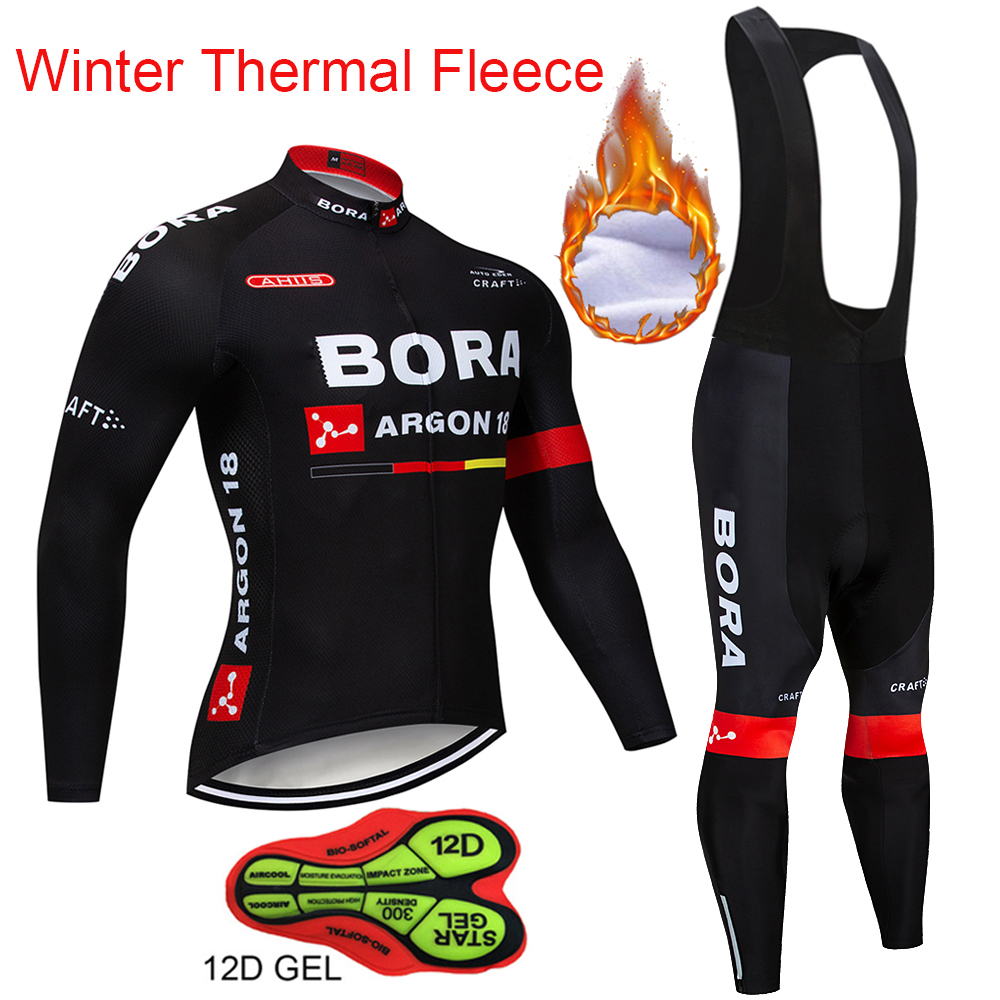 Winter Thermal Fleece BORA ARGON 18 Long Sleeves Cycling Jersey 2018 Men Bike Clothing Bicycle suits Cycling Kit Ropa Ciclismo winter thermal fleece bora argon 18 long sleeves cycling jersey 2018 men bike clothing bicycle suits cycling kit ropa ciclismo