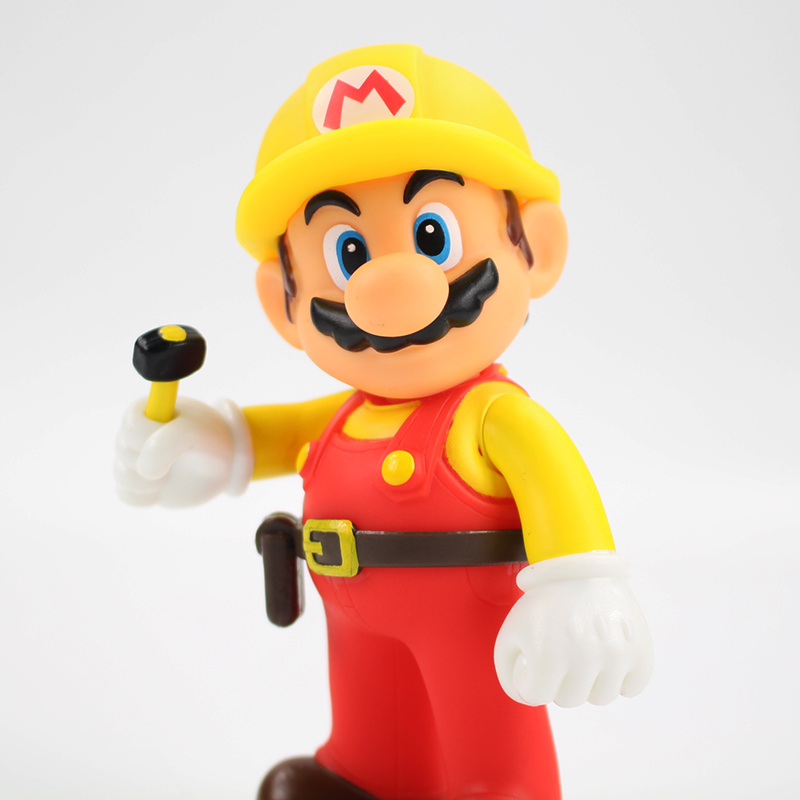 13cm The Repairman Mario Vinyl Figure Toys Super Mario Bro PVC Action Figure Toys Doll Brinquedos Kids Birthday Gifts 4