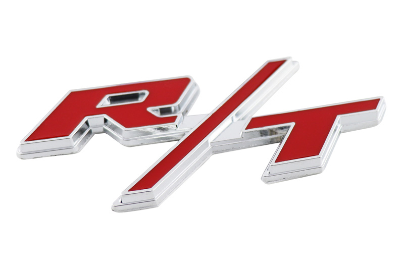Ruiziliang 1pc Car Accessories 3D Car R//T RT Stickers Emblem Trunk Badge for Challenger Charger Ram Caliber Journey Caravan Chrysler Color Name : Red