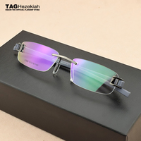 2019 Brand eyeglasses rimless Vintage myopia eyeglasses frame TR90 computer Retro glasses frame optical women men oculos de grau