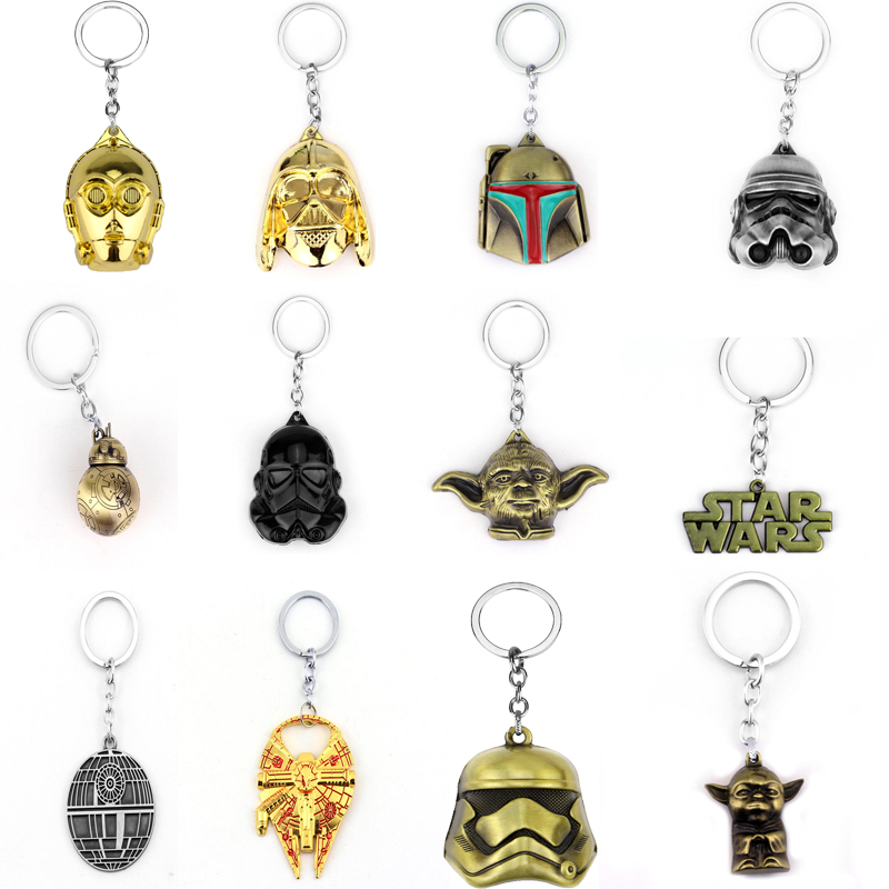 New Fashion Star Wars Spaceship Sign Keychain Cool Falcon Keyrings Alloy BB-8 BB8 Pendant Keyring For Man Jewelry Accessories
