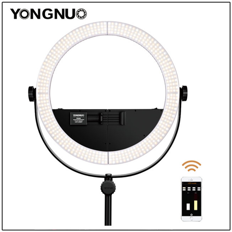YONGNUO YN508 2-in-1 Bi-Color LED Video Ring Light 3200K-5600K for Live Video Beauty Selfie for Smartphone DSLR Camera