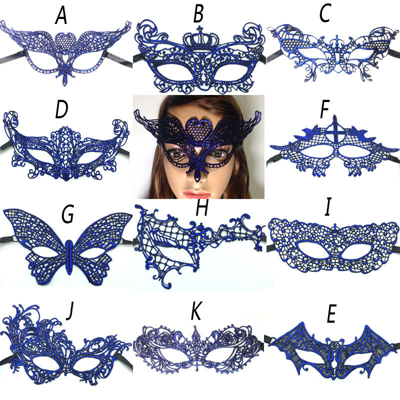 11 Style Hot Sales Sexy Lady Lace Mask Cutout Eye Mask For Masquerade Party Fancy Dress Costume Halloween Ball Prom Fancy 1PCS