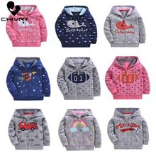 Chivry 2019 Children Hoodies Sweatshirts Boys Girl Kids Cartoon Print