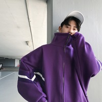 2018 Men's Fashion Korean Style Windbreaker Side Stripe Baseball Clothes Outerwear Loose Casual Bomber Jackets Coats M 2XL