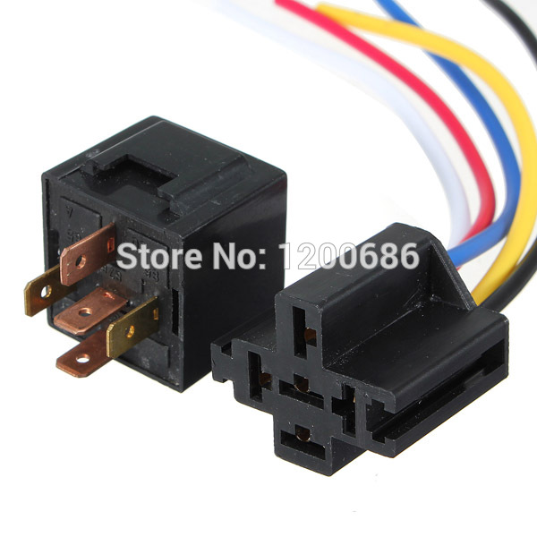 US $286.0 |UPS TO Canada DC 12V 40A AMP Relay Socket SPDT 5 Pin 5 Wire on
