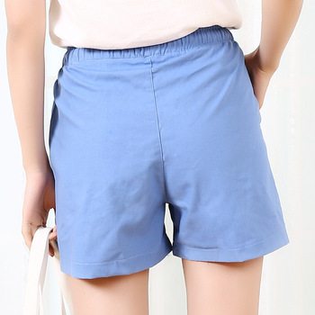 Danjeaner S-2XL Shorts Feminino Women Casual Fashion Candy Color Wide Leg Shorts Plus Size Loose Leisure Drawstring Shorts 4