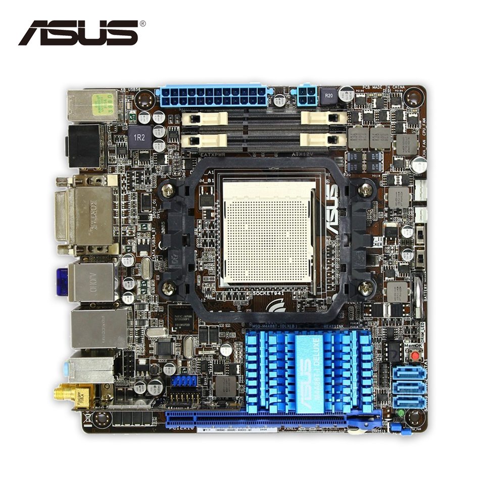 Asus M4A88T-I Deluxe Desktop Motherboard 880G Socket AM3 DDR3 USB2.0 Mini-ITX цена
