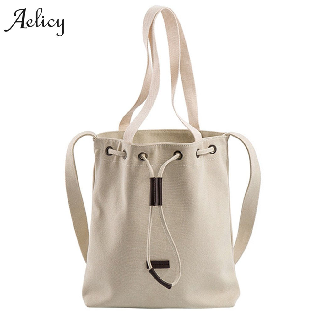 Black Korean Over Shoulder Bags Irregular Canvas Messenger Bag Vintage Bag Bolsa Feminina