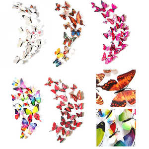 Image 1 - New listing 3D DIY Wall Stickers Fridge Magnet Home Decor Cartoon Butterfly Stickers Room Decor Creative sticker mural