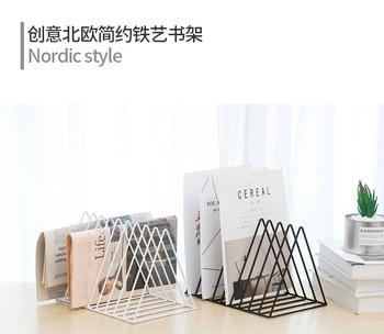 Simple Nordic Wrought Iron Golden Triangle Magazine Rack Bookshelf Magazine Office Desktop Decoration Finishing Racks Book отсутствует office magazine 12 56 декабрь 2011