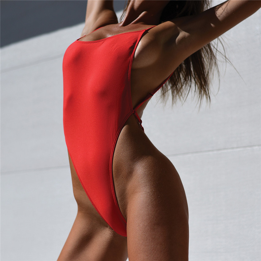 Wholesale-Thong One Piece Swimwear Swimsuit 2017 Sexy Thong Bodysuit  Leotard One-Piece Swimsuits Women High Cut Swimming Suit Beachwear 5dfb9cc21