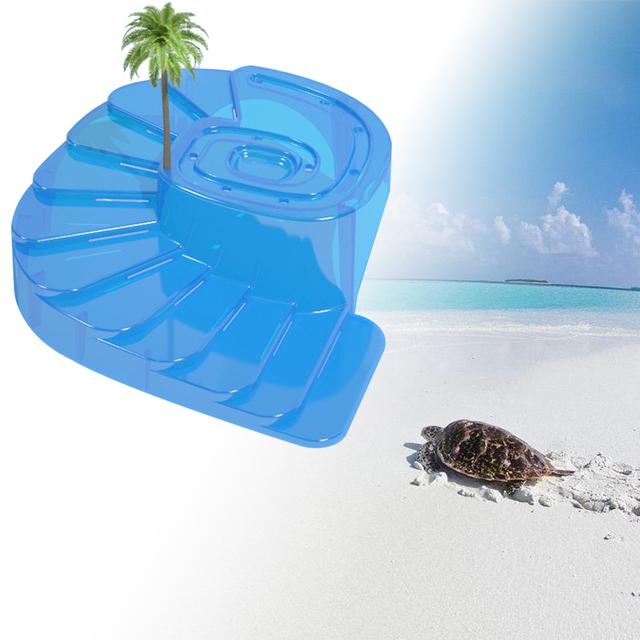 Petacc Turtle Basking Platform Floating Turtle Pier Reptile Habitat with Ramp