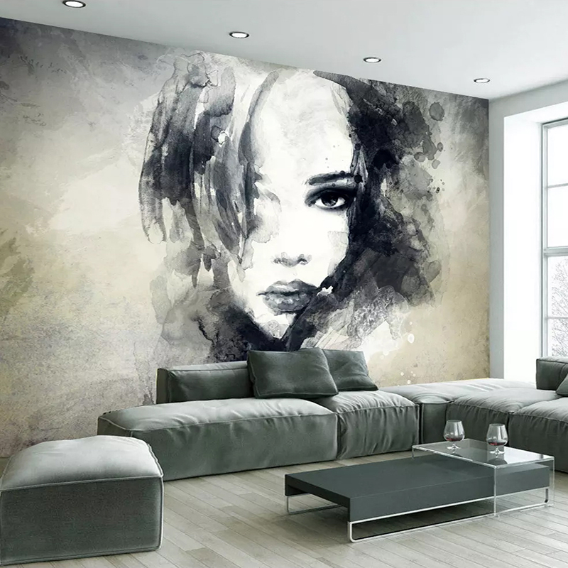 European Style Mural Wallpaper Modern Art Graffiti 3D Watercolor Figures Murals Wall Painting Living Room Decor Papel De Parede