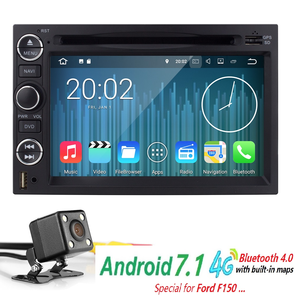 2g ram 4g wifi 7 cardvd player 2din android7 1 quadcore1080p gps for ford
