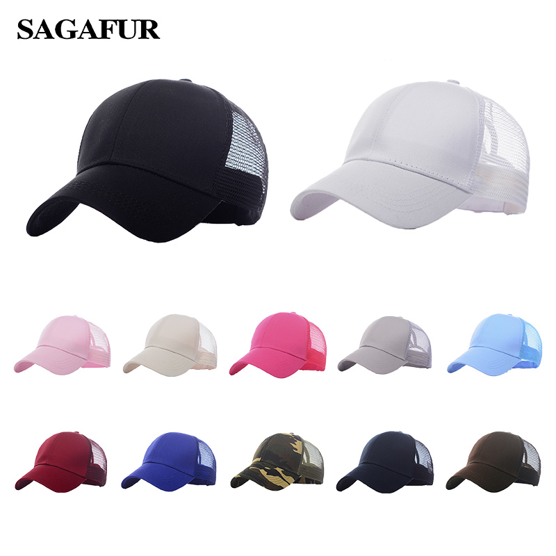 Buy Ponytail Baseball Cap Women Messy Bun Snapback hat Casual Sport Fashion Hat Female Adjustable Hip Hop Hats 2019 new for only 6.36 USD