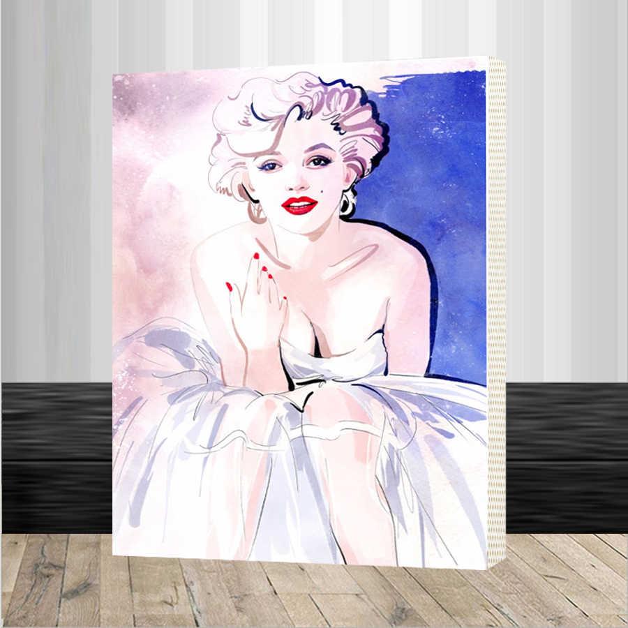 مارلين مونرو 40x50 سنتيمتر الصورة على الحائط الاكريليك الطلاء بواسطة أرقام رسمت الرقمية النفط اللوحة قماش هدية