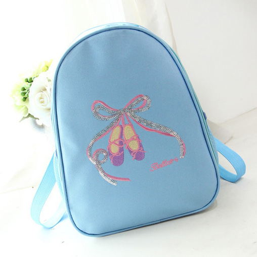 Kids Ballet Bag Waterproof Canvas Bow-kont Dance Bags For Kids Cute Children Ballerina Backpack Embroidery Sequins Shoes