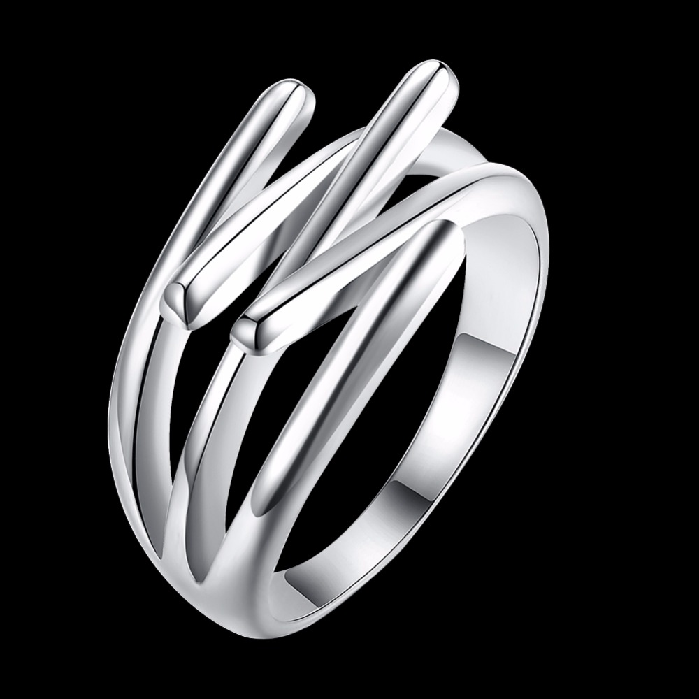 2017 New Fashion Jewelry silver plated Cross Rings For Women Size 6 7 8 9 Female Party Finger Ring anel anillos de Prata