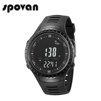 SPOVAN SPV710b Sport Watch, Digital Outdoor Men's Sports Watches, 164FT Waterproof with LED Backlight/Fishing Remind/Alarm