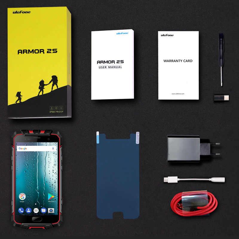"""Téléphone portable étanche Ulefone Armor 2 S IP68 Android 7.0 5.0 """"FHD MTK6737T Quad Core 2 GB + 16 GB 4G Version mondiale Smartphone"""