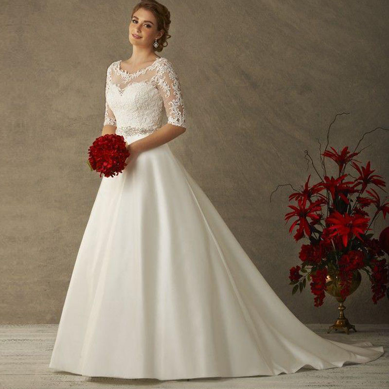 a76c9bd7b19 Plus Size Winter Wedding Dresses With Sleeves - Women s Dresses