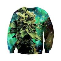 Newest Mens Womens Galactic Weed Space Galaxy 3D Print Sweatshirt Hoodies S M L XL XXL