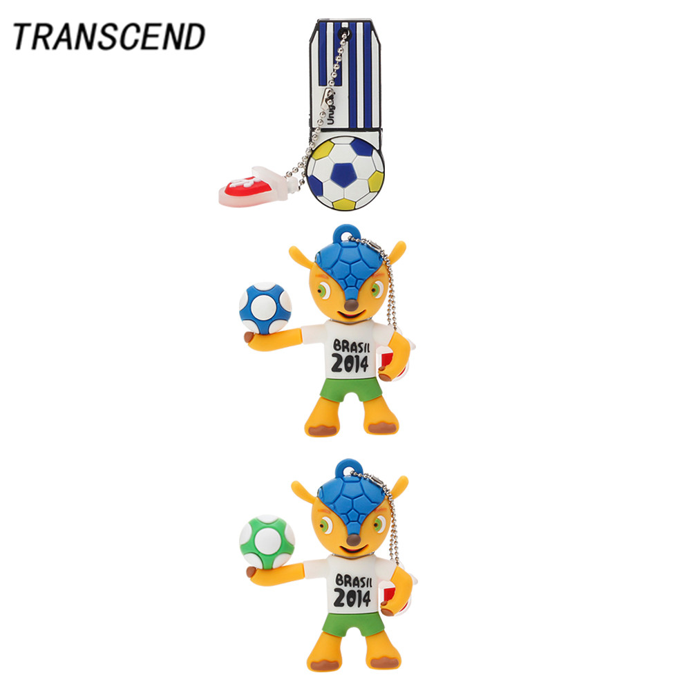 Transcend usb3.0 cartoon football kid flash drive 4GB 8GB 16GB 32GB 64GB portable usb2.0 personal memory stick free shipping ...