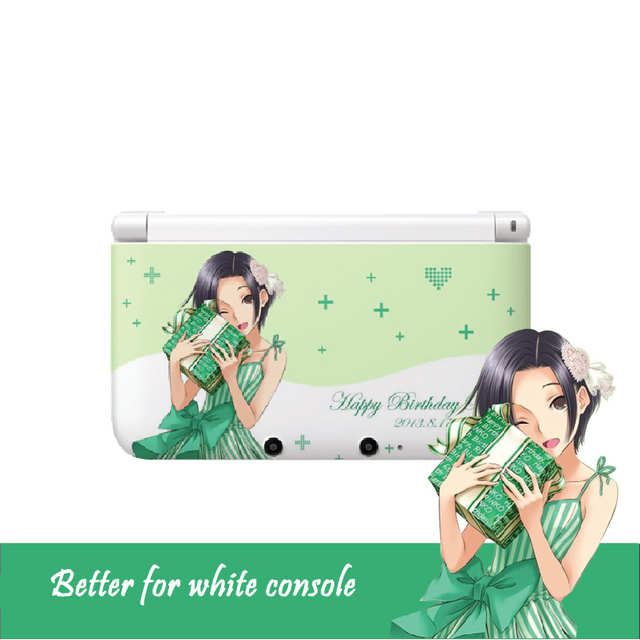 Love plus game kobayakawa rinko transparent clear pvc decal skin sticker for nintendo 3ds xl