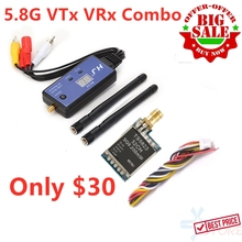 Best Price ! FPV SYSTEM COMBO 5.8G Video Transmitter TS5823 and HJ32TR RC32 Receiver for FPV Racing Drone Quadcoper