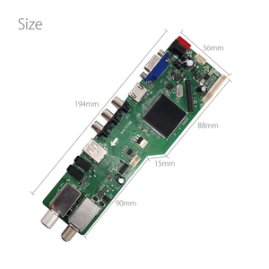 Image 4 - 5 OSD Game RR52C.04A Support Digital Signal DVB S2 DVB C DVB T2/T ATV Universal LCD Driver Board with 7key button 1ch 6bit 40pin