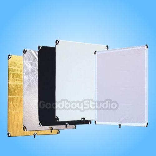 """bilder für Pro Studio 40 """"x 48"""" 100x120 cm 5-in-1 Flagge Panel Set Reflektor w/3/8 """"Schraubenloch"""