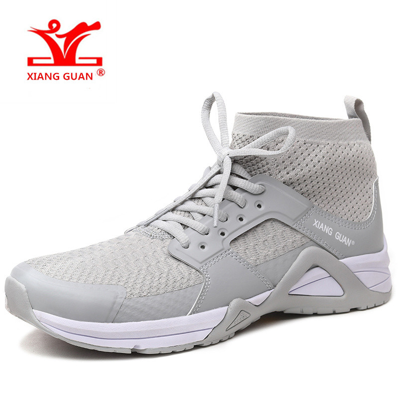 XiangGuan mens breathable sport outdoor light running shoes 2017 athletic smart mesh snerkers euro size 39-45 ...