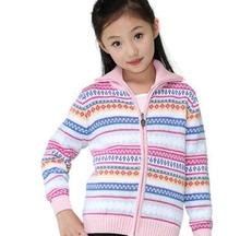 New Style Girl Sweater Cardigan Coat Child Sweater Long-sleeve Sweet Knitwear A0769