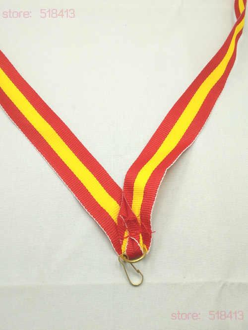 Sarı ve kırmızı madalya kurdela ile bağlı yüksek kaliteli Unisex jimnastik spor oyuncak okul spor günü ulusal bayrak 2020