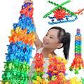 100 unidades Del Cabrito Multicolor Bloques de Construcción de juguete Juguetes Educativos Tempranos de Aprendizaje Juguetes Plásticos del Copo de nieve Clásico