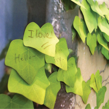 Lively Leaf Post It Notes, Small N Times Poster, School Office Creative Post Card Adhesive Memo Pad