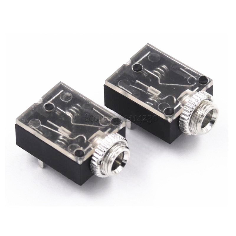 10Pcs 3.5mm 5Pin Stereo Headphone Audio Jack Earphone Socket NEW