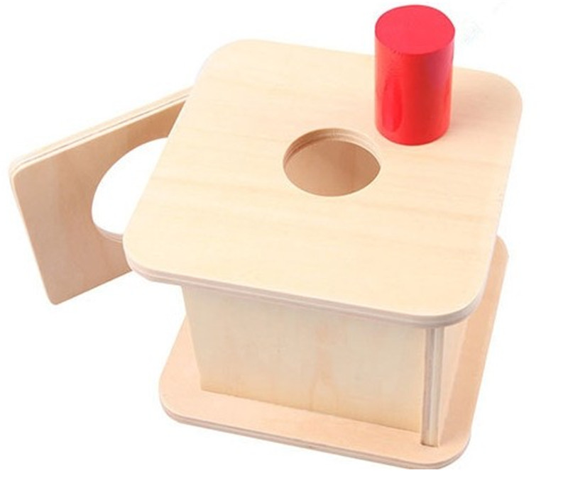 New wooden Baby Toy Montessori Kids Wood Small Cylinder Matching Box Learning Educational Gifts