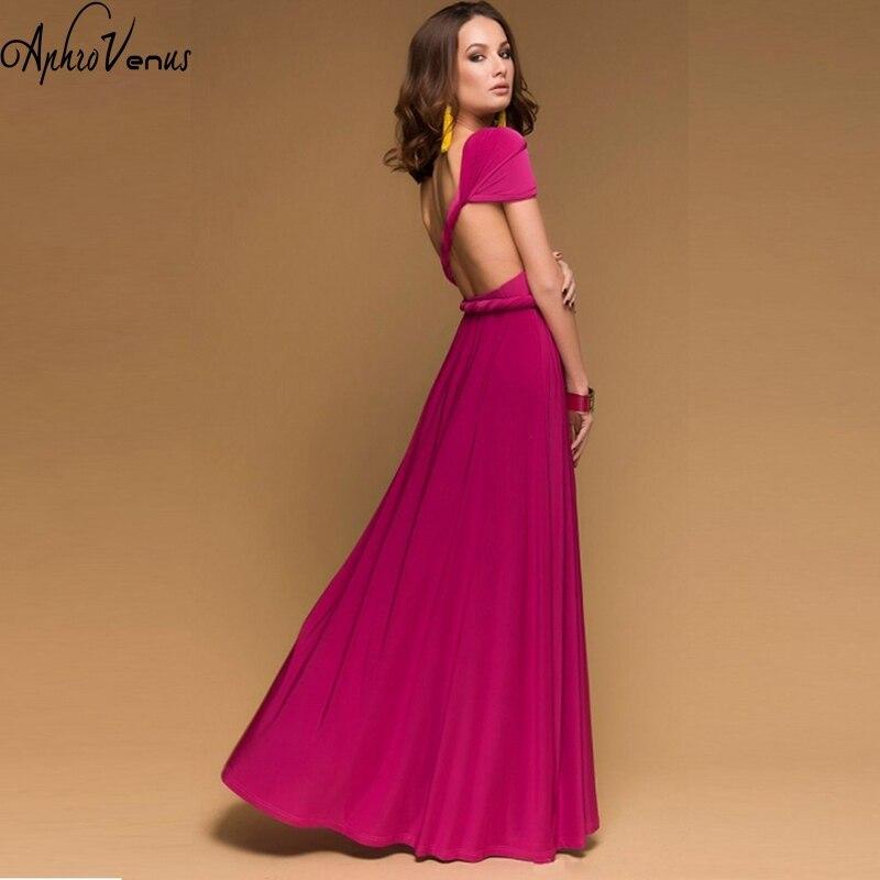 NEW Sexy Women Boho Maxi Dress 21 colors Red Bandage Long Dress Sexy Multiway Bridesmaids Convertible Dress Robe Longue Femme