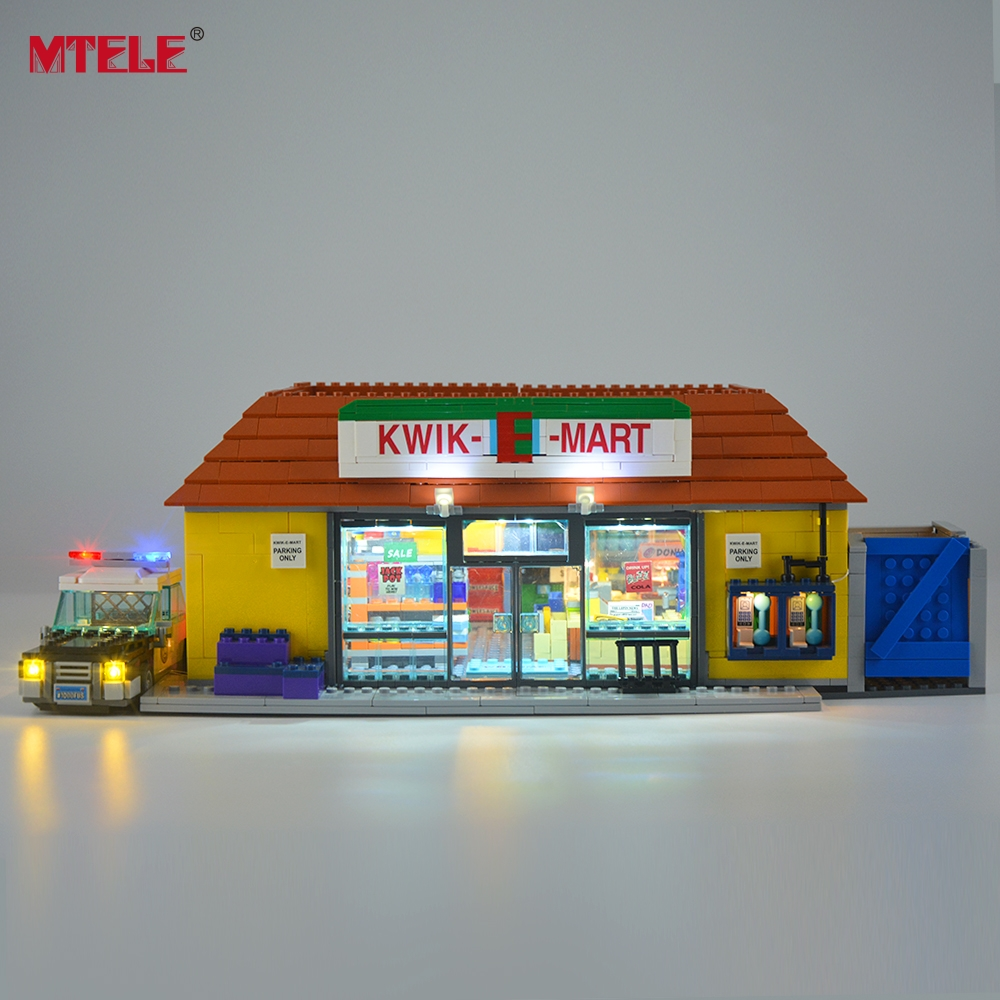 mtete conjunto de luz led para 71016 kwik e mart loja bloco de construcao iluminacao kit